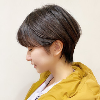 ショートヘア ハイライト ナチュラル 大人可愛い ヘアスタイルや髪型の写真・画像