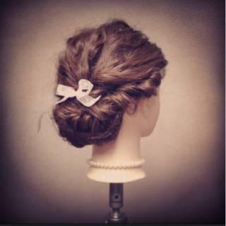 コンサバ アップスタイル ショート パーティ ヘアスタイルや髪型の写真・画像