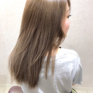 秋 アッシュ セミロング デート ヘアスタイルや髪型の写真・画像