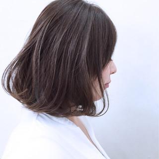 アッシュ ボブ インナーカラー 暗髪 ヘアスタイルや髪型の写真・画像 ヘアスタイルや髪型の写真・画像