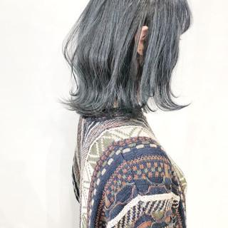 波ウェーブ ボブ 透明感カラー ブルージュ ヘアスタイルや髪型の写真・画像
