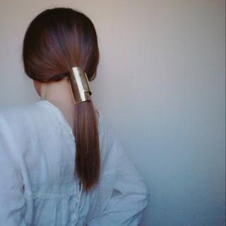 セミロング ショート ヘアアクセ 簡単ヘアアレンジ ヘアスタイルや髪型の写真・画像 ヘアスタイルや髪型の写真・画像