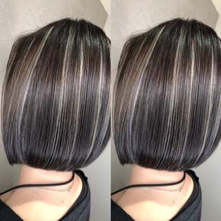 ハイライト ボブ グラデーションカラー スポーツ ヘアスタイルや髪型の写真・画像 ヘアスタイルや髪型の写真・画像