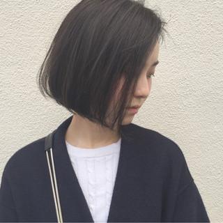 外国人風 大人女子 切りっぱなし ワンカール ヘアスタイルや髪型の写真・画像