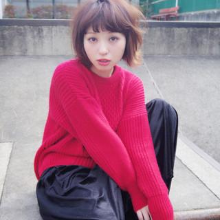 冬 デート アウトドア フェミニン ヘアスタイルや髪型の写真・画像