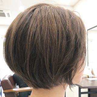 ナチュラル 流し前髪 ボブ デート ヘアスタイルや髪型の写真・画像