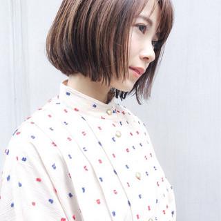 大人かわいい ショート オフィス アンニュイ ヘアスタイルや髪型の写真・画像