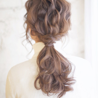 セミロング アッシュ ヘアアレンジ ショート ヘアスタイルや髪型の写真・画像