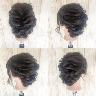 セミロング 大人かわいい ルーズ 上品 ヘアスタイルや髪型の写真・画像
