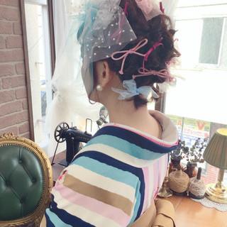 ショート ヘアアレンジ 袴 学校 ヘアスタイルや髪型の写真・画像