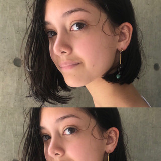 パーマ 簡単ヘアアレンジ ガーリー 黒髪 ヘアスタイルや髪型の写真・画像 ヘアスタイルや髪型の写真・画像