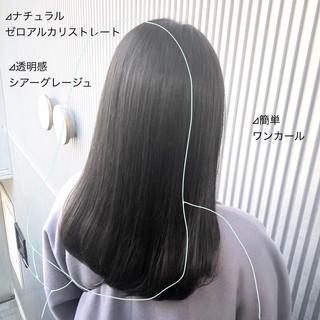 髪質改善 ストレート 前髪 ナチュラル ヘアスタイルや髪型の写真・画像