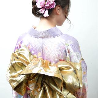 編み込み 成人式 ねじり ヘアアレンジ ヘアスタイルや髪型の写真・画像 ヘアスタイルや髪型の写真・画像