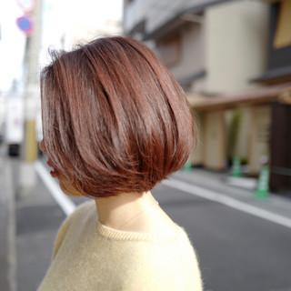 オレンジ ハイトーン 透明感 ショート ヘアスタイルや髪型の写真・画像