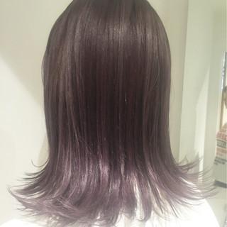 ラベンダー グラデーションカラー 外国人風カラー グレージュ ヘアスタイルや髪型の写真・画像