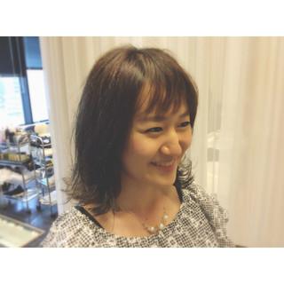 暗髪 おフェロ 透明感 ガーリー ヘアスタイルや髪型の写真・画像 ヘアスタイルや髪型の写真・画像