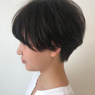 小顔ショート 黒髪ショート ショート マッシュショート ヘアスタイルや髪型の写真・画像