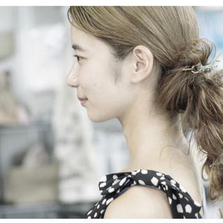 ナチュラル可愛い ゆるナチュラル 簡単ヘアアレンジ ヘアアレンジ ヘアスタイルや髪型の写真・画像