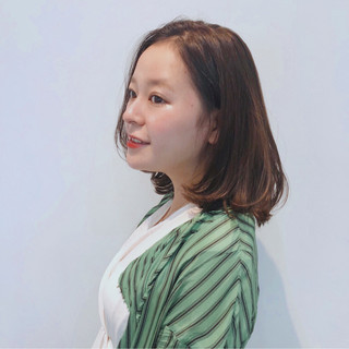 女子力 オフィス オーガニックカラー 秋 ヘアスタイルや髪型の写真・画像