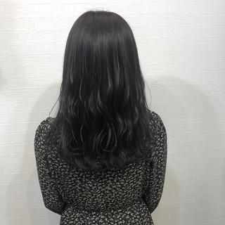 ロング 就活 暗髪女子 グレージュ ヘアスタイルや髪型の写真・画像