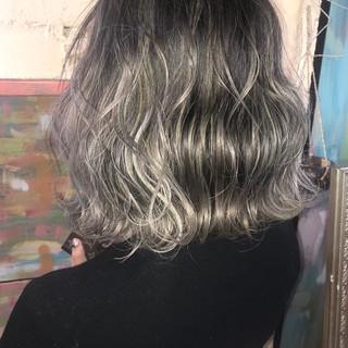 ハイトーン ボブ ホワイト 外国人風 ヘアスタイルや髪型の写真・画像
