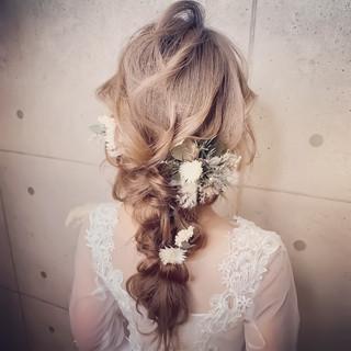 ロング エレガント セルフヘアアレンジ 結婚式 ヘアスタイルや髪型の写真・画像