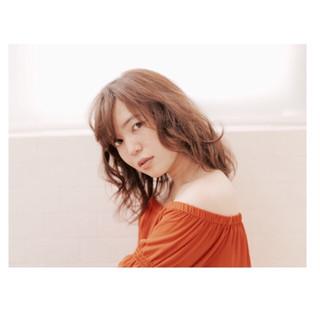 ミディアム 暗髪 アッシュ 外国人風 ヘアスタイルや髪型の写真・画像