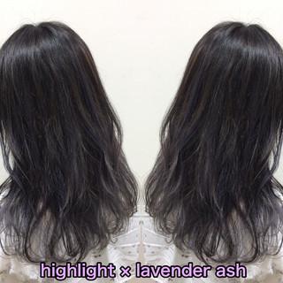 ハイライト セミロング ストリート ヘアカラー ヘアスタイルや髪型の写真・画像