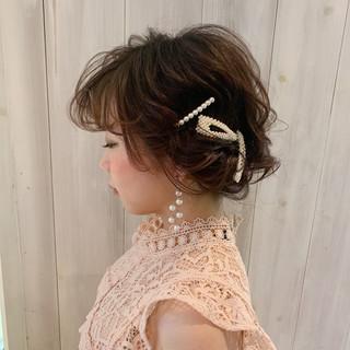 結婚式髪型 フェミニン ゆるナチュラル ヘアアレンジ ヘアスタイルや髪型の写真・画像