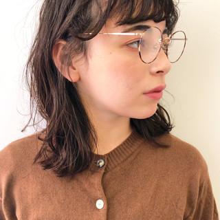 ミディアム 黒髪 パーマ 外国人風パーマ ヘアスタイルや髪型の写真・画像