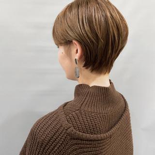 ショートヘア ミニボブ ショート フェミニン ヘアスタイルや髪型の写真・画像
