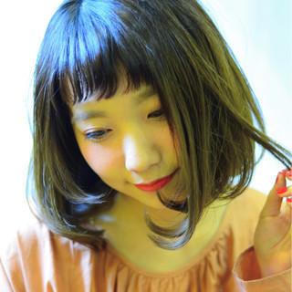 前髪あり 大人女子 フリンジバング 色気 ヘアスタイルや髪型の写真・画像