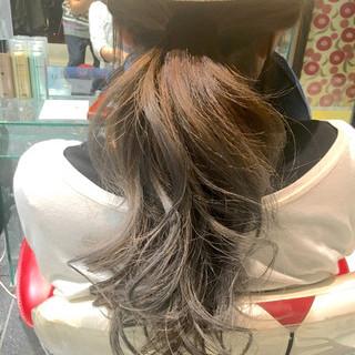 ストリート 夏 グラデーションカラー ロング ヘアスタイルや髪型の写真・画像