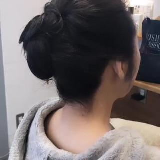 ヘアアレンジ エレガント 結婚式 セミロング ヘアスタイルや髪型の写真・画像 ヘアスタイルや髪型の写真・画像