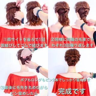 ロング フェミニン アウトドア 結婚式 ヘアスタイルや髪型の写真・画像