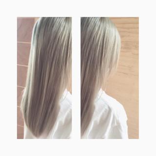 ブリーチ ダブルカラー ロング モード ヘアスタイルや髪型の写真・画像