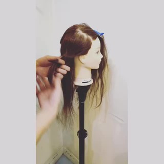 ショート 編み込み ねじり セミロング ヘアスタイルや髪型の写真・画像