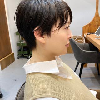 ナチュラル ショート ベリーショート 30代 ヘアスタイルや髪型の写真・画像