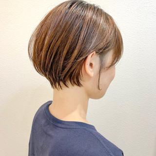 ショートヘア ナチュラル ショートボブ ショートパーマ ヘアスタイルや髪型の写真・画像