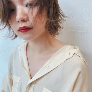 抜け感 外ハネ ガーリー ショート ヘアスタイルや髪型の写真・画像