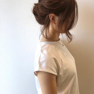 ヘアアレンジ ナチュラル ルーズヘア アッシュブラウン ヘアスタイルや髪型の写真・画像