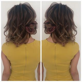 ナチュラル 簡単ヘアアレンジ 花嫁 ロング ヘアスタイルや髪型の写真・画像