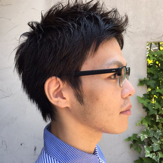 メンズカット ストリート ショート メンズショート ヘアスタイルや髪型の写真・画像