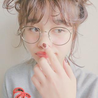 外国人風 シースルーバング ナチュラル ヘアアレンジ ヘアスタイルや髪型の写真・画像