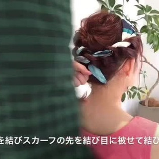 ヘアアレンジ ルーズ ヘアアクセ フェミニン ヘアスタイルや髪型の写真・画像