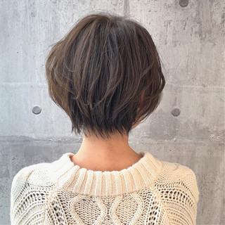 ハンサムショート ショートボブ ヘアカラー 簡単スタイリング ヘアスタイルや髪型の写真・画像 ヘアスタイルや髪型の写真・画像