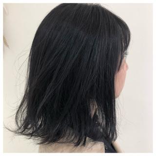 外ハネ 就活 ミディアム 暗髪 ヘアスタイルや髪型の写真・画像
