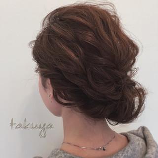 ロング ショート ヘアアレンジ 編み込み ヘアスタイルや髪型の写真・画像