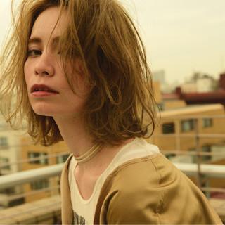 ハイライト 外国人風 ニュアンス 小顔 ヘアスタイルや髪型の写真・画像