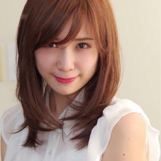 色気 ミディアム 女子会 斜め前髪 ヘアスタイルや髪型の写真・画像 ヘアスタイルや髪型の写真・画像